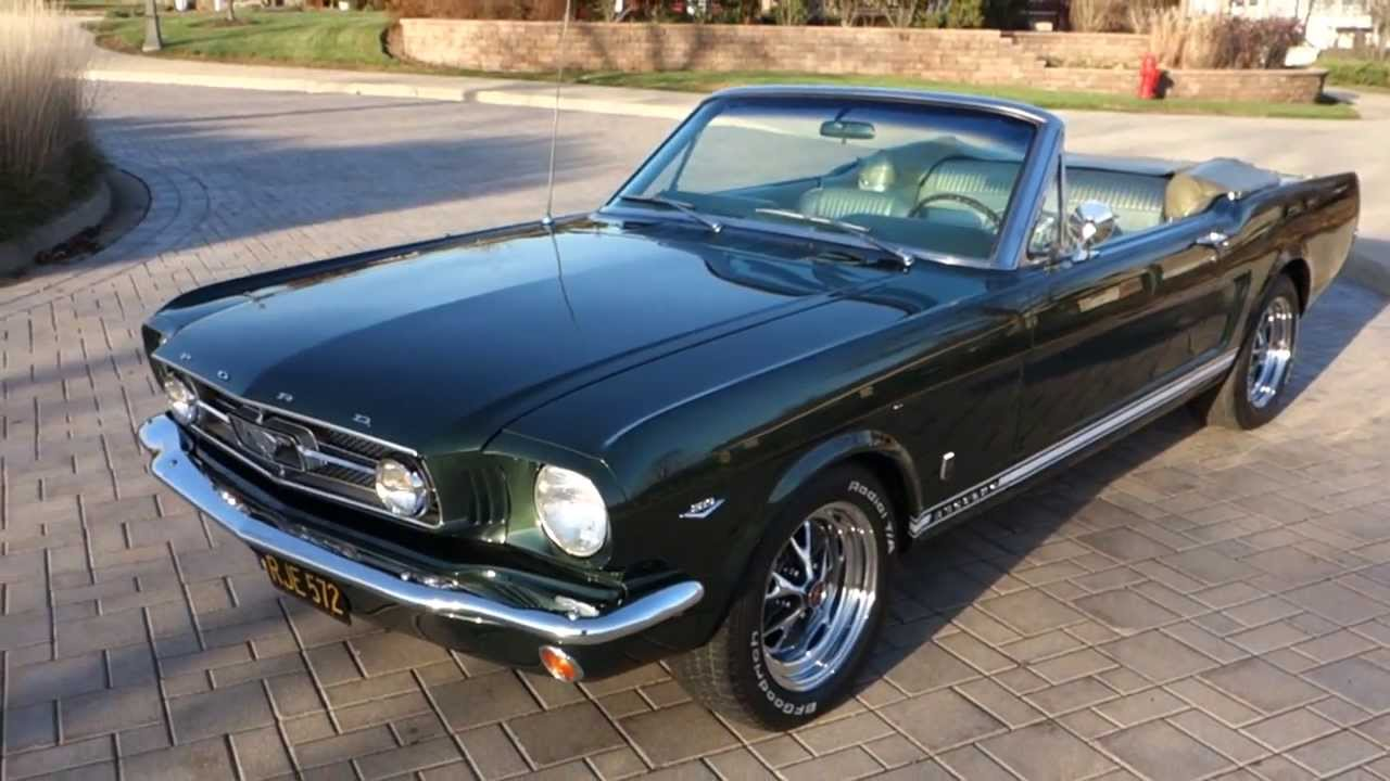 1965 Ford Mustang Factory Gt Convertible Highly Optioned
