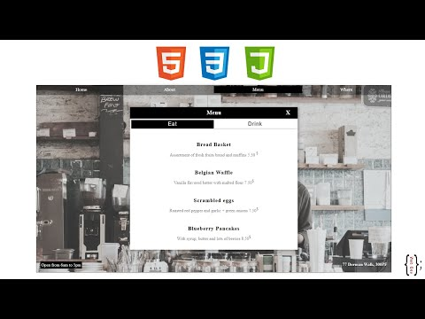 How to build a Cafe website using html / css  / jquery (Front-End Dev) thumbnail