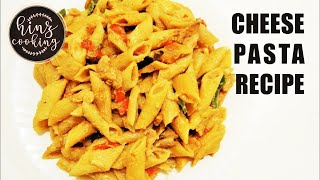Pasta in White Sauce - Cheese Pasta Recipe - White Sauce Chicken Pasta Recipe - Hinz Cooking