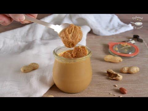 Sólo 1 INGREDIENTE para preparar mantequilla o crema de cacahuete o maní en 5 MINUTOS!