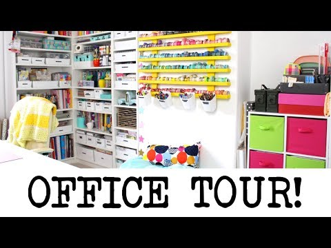 Office/Craft Room Tour! June 2018 | MyGreenCow