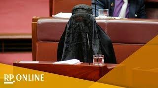 Rechtsaußen-Politikerin kommt mit Burka ins australische Parlament