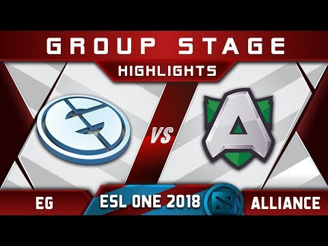 EG vs Alliance [GREAT GAME] ESL One Hamburg 2018 Highlights Dota 2