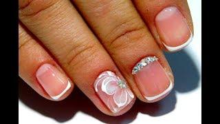 ТОП Красивый дизайн ногтей. Френч на коротких ногтях 2017 Новинки от мастера маникюра nail 2017