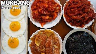 집밥먹방 오징어젓 낙지젓 연어장 먹방 Salted Seafood & Marinated Salmon MUKBANG ASMR REAL SOUND EATING SHOW COOKING