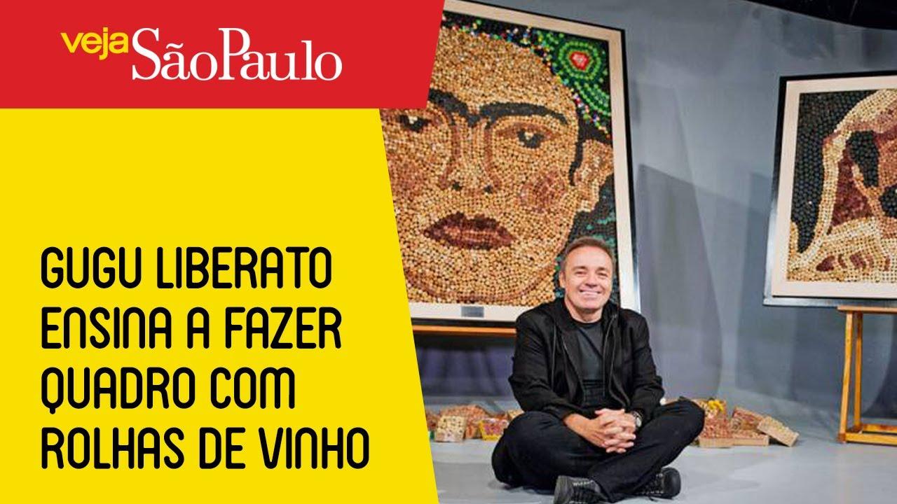 Gugu Liberato ensina a fazer quadro com rolhas de vinho