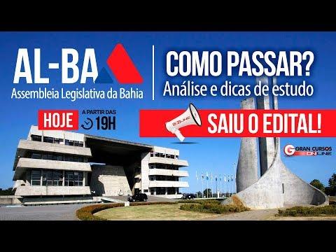 Concurso AL-BA | Análise Do Edital E Dicas De Estudos - Como Passar?