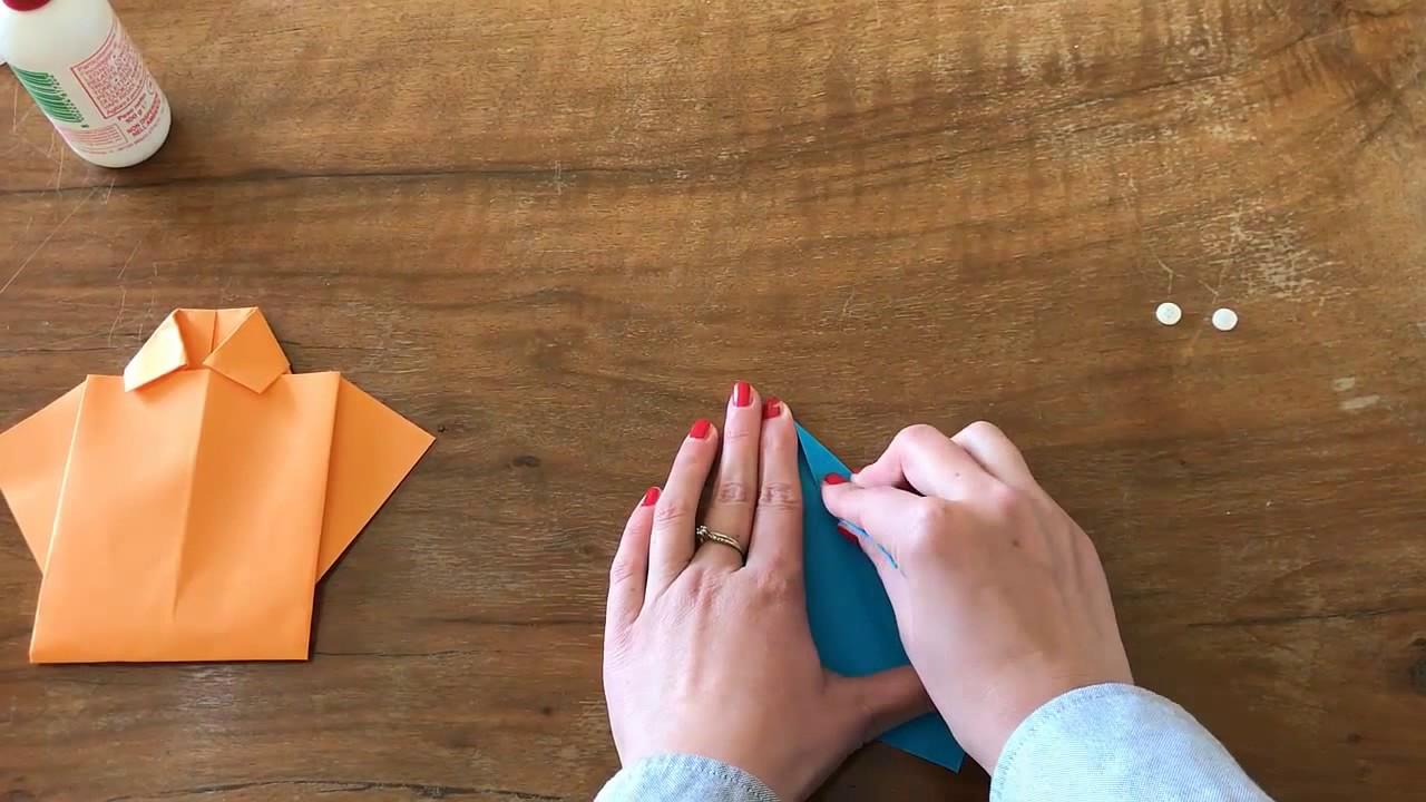 comment faire une chemise avec une cravate en papier youtube. Black Bedroom Furniture Sets. Home Design Ideas