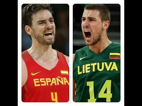 Spain vs. Lithuania Olympic Basketball FULL Highlights