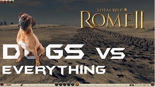 Rome Total War Massive Battles - 1560 War Dogs vs Spearmen/Diciples of Ares/Elephants [Ultra/1080p]