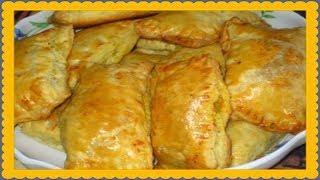 Пирожки с мясом и капустой на сковороде!