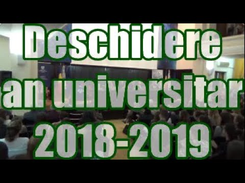 Deschidere An Universitar