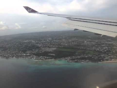 Landing at Bridgetown coming in over Bathsheba