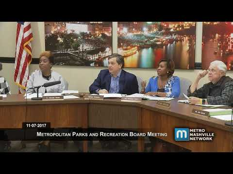 11/07/17 Metro Board of Parks and Recreation