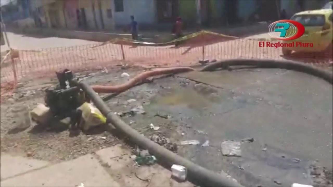 Sullana: aguas servidas causan deterioros y estragos en diversos lugares de la ciudad