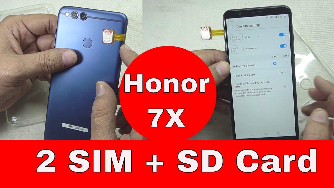 🔧🎴2 SIM & 📇SD Card Simultaneously on 📲Honor 7X