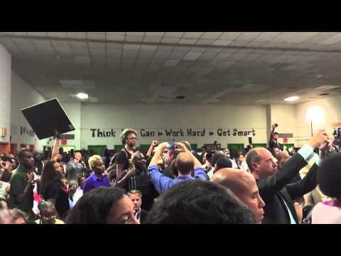 #Blacklivesmatter Activists Disrupt Anti-Crime Announcement from D.C. Mayor Muriel Bowser