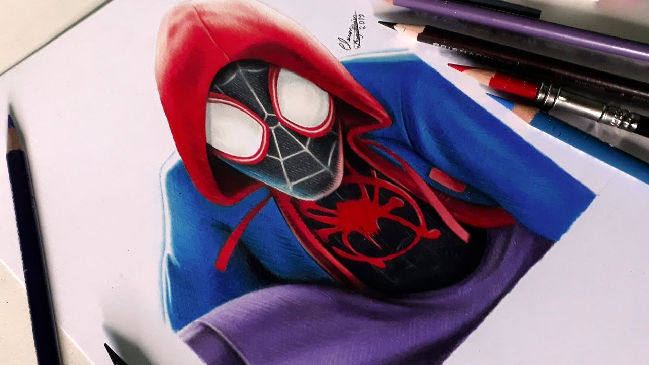 Desenhando O Homem Aranha Into The Spider Verse Speed Drawing