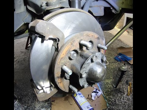 How to change and fix 2000 Isuzu rodeo brakes rotors caliper DIY with detail