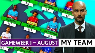 MY FPL 2019/20 TEAM | AUGUST | SQUAD SELECTION | #GW1