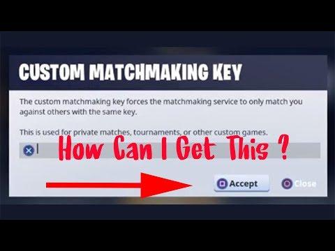live matchmaking keys fortnite