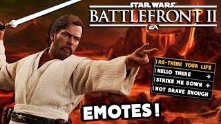 Star Wars Battlefront 2 - 10 Obi-Wan Kenobi Clone Wars DLC Emotes We NEED!