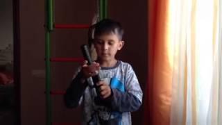 Дитячий пістолет з глушником і снайперська гвинтівка