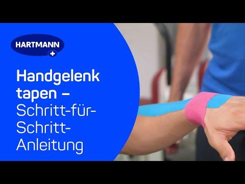 Handgelenk tapen: Anwendung