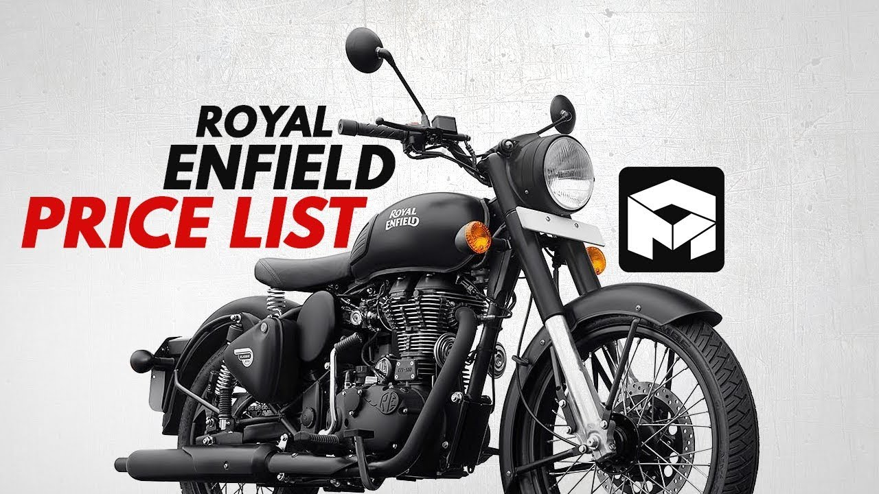 Royal Enfield Price List - YouTube