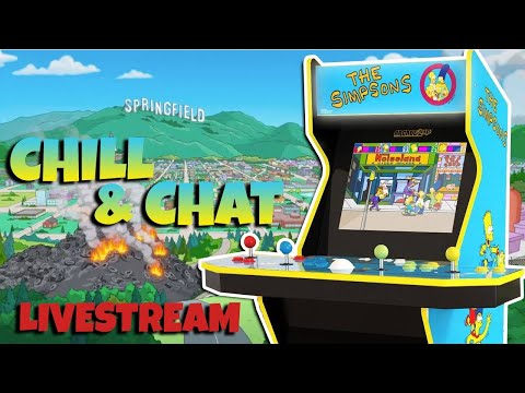 Arcade1Up The Simpsons Arcade Reveal - Let's Play Chill & Chat from COOLTOY
