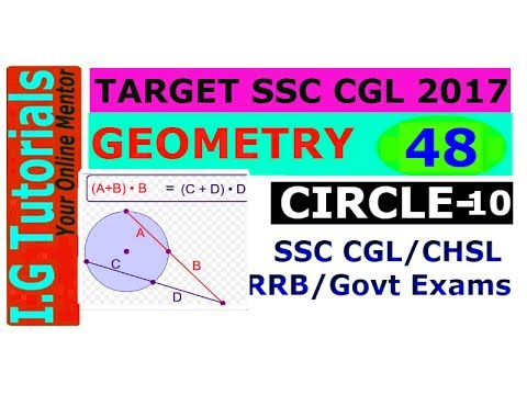 GEOMETRY For SSC CGL-48|Chords,Tangent & Secant- Length Property|Advance Maths For SSC CGL[IN HINDI]