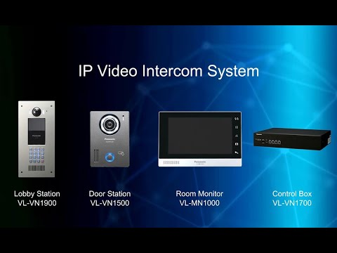Panasonic IP Video Intercom System for Apartment Complexes - YouTube