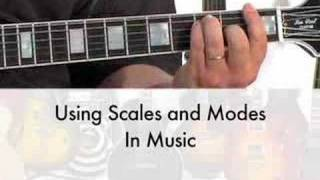 mjs lead guitar lesson using scales modes with chords