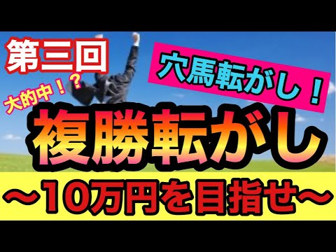 【競馬】第3回複勝ころがし!10万円を目指せ! 過去2度の成功を果たした今回3回目の結果は!?