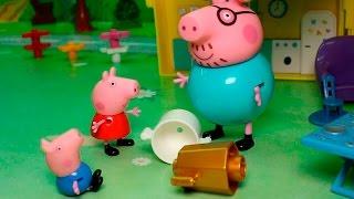 Свинка Пеппа новые серии - День наоборот!Мультики Для детей Новые серии 2016 года.Мультик из игрушек