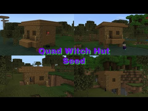 Quad Witch Hut Seed - Minecraft Bedrock Edition