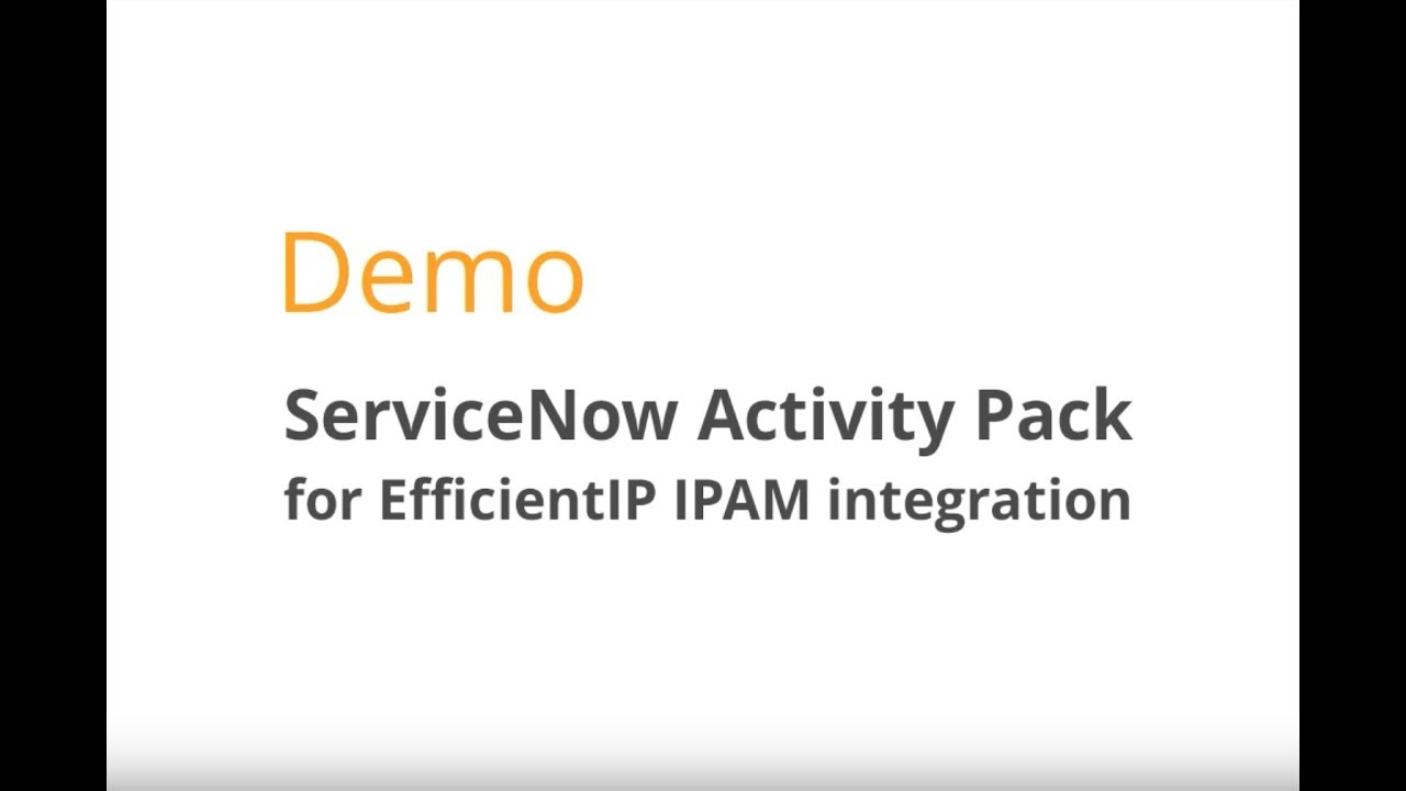 ServiceNow Integration for Network Management | EfficientIP