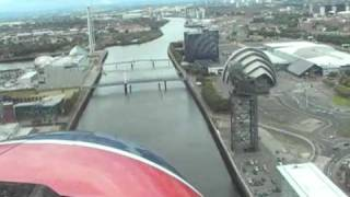Cockpit View Of Seaplane Landing on the River Clyde