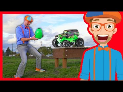 Thumbnail: Fun Blippi Monster Truck Egg Hunt – Learn Colors with Blippi