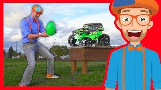 Fun Blippi Monster Truck Egg Hunt – Learn Colors with Blippi