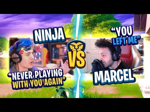 THINGS WENT TERRIBLY WRONG! MARCEL AND NINJA FIGHT! (Fortnite: Battle Royale)