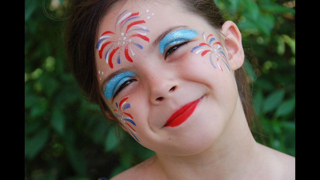 Fireworks Face Painting Fun YouTube
