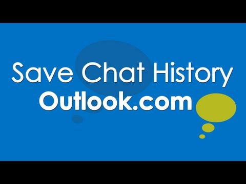 Enable Save IM Chat History In Outlook.com Email