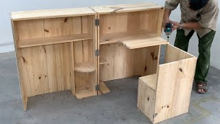 How To Build A Modern Folding Table For Narrow Spaces - Woodworking Plan Smart Furniture Save Space