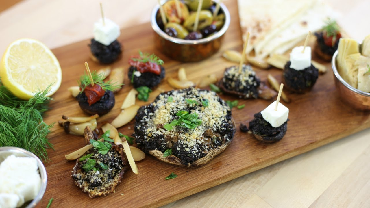 Stuffed mushrooms platter french vegetarian recipe youtube stuffed mushrooms platter french vegetarian recipe forumfinder Images