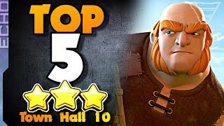 TOP 5 BEST Town Hall 10 Attack Strategies
