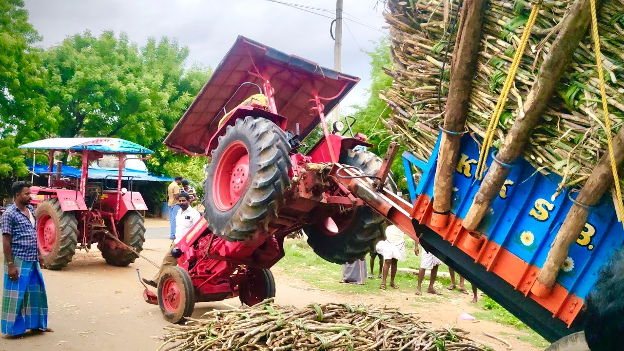 Mahindra 575DI Tractor trolley accident & rescue by Mahindra 575 DI sarpanch | Come to Village