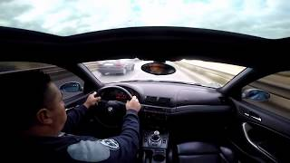 BMW M3 E46 crash onboard