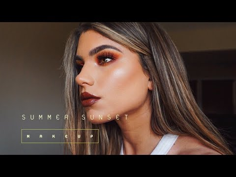 Full Coverage SUMMER Makeup Tutorial! Sunset Eyeshadow Look thumbnail