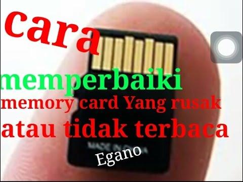 Cara Memperbaiki Memory Card Yang Rusak Atau Tidak Bisa Terbaca